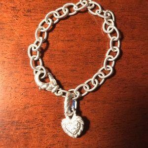 Judith Ripka Sterling Bracelet with Heart Enhancer